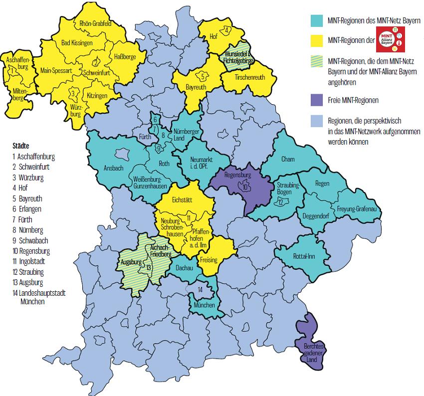 Karte Oberbayern Regionen.Karte Bayern Regionen Onlinebieb