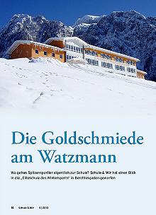 Goldschmiede am Watzmann: Bericht in der Schule & Wir 5/2013 über Eliteschulen des Sports