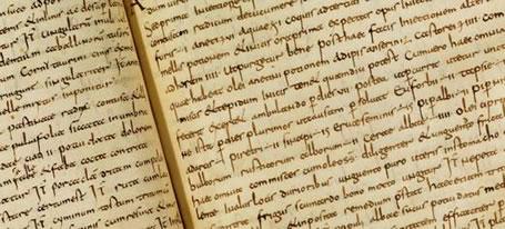 Blick ins Lorscher Arzneibuch aus dem 8. Jahrhundert (Staatsbibliothek Bamberg)