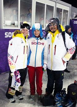 Alona mit der deutschen Olympiateilnehmerin Laura Grasemann (links)