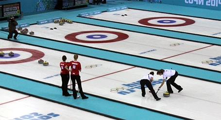 Der Curling-Wettbewerb im Stadion