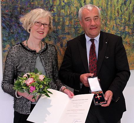 Kunstminister Dr. Ludwig Spaenle mit Gisela Geiger