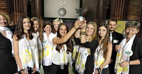 Die Gewinnerinnen der Anne-Frank-Realschule aus München