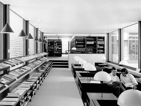 Blick in die Geschichte: Der Lesesaal des Physik-Departements der TUM 1970