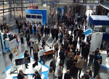Die Eröffnung des ZD.B wurde begleitet von einer Fachausstellung zum Thema Digitalisierung