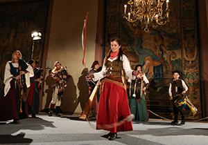 Die Musikgruppe Mummenschanz aus Rothenburg o.d.T.