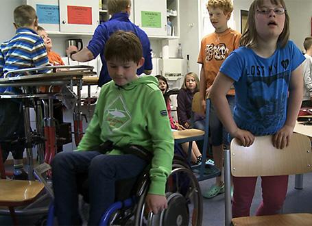 David besucht die Astrid-Lindgren-Schule in Kempten - diese ist bestes Beispiel für gelungene Inklusion an bayerischen Schulen