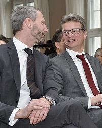 Staatssekretär Sibler im Gespräch mit dem BayFIA-Sprecher Reichel