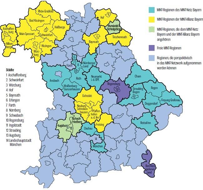 München Karte Bayern.Mint Unterricht Für Die Zukunft
