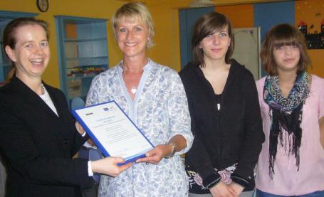 Die Dr.-Jaufmann-Mittelschule Bobingen freut sich über die Auszeichnung