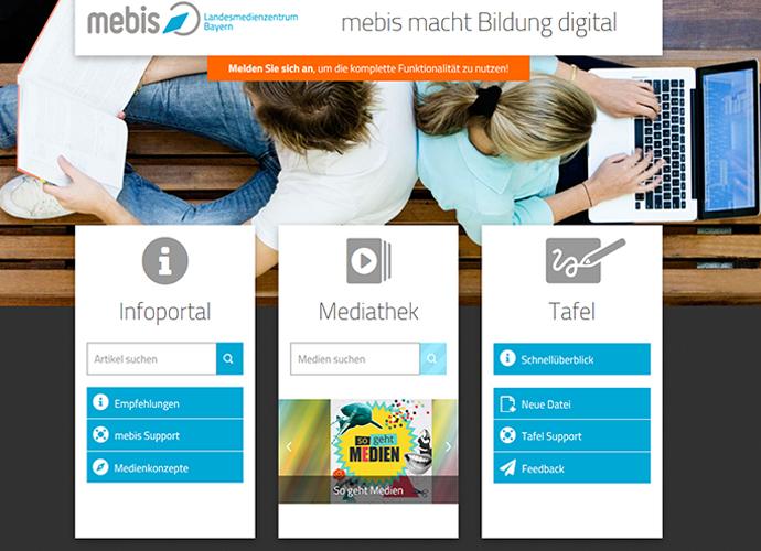 mebis stärkt das digitale Unterrichten (mit Klick ins Bild direkt zur digitalen Plattform)