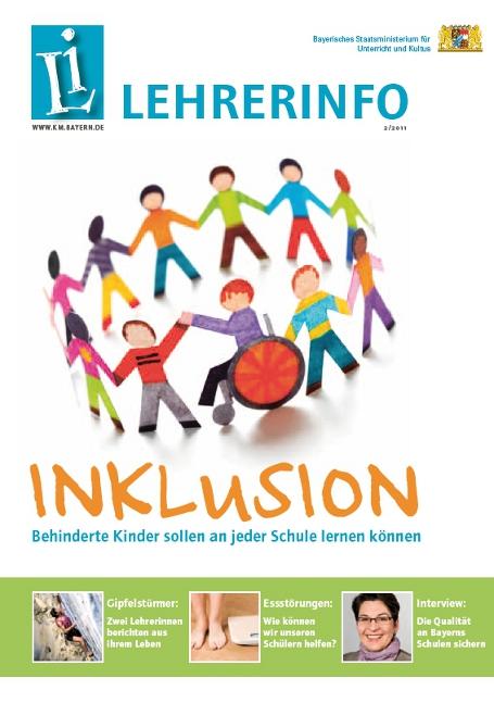 LEHRERINFO als E-Paper: Die Titelgeschichte zu Inklusion