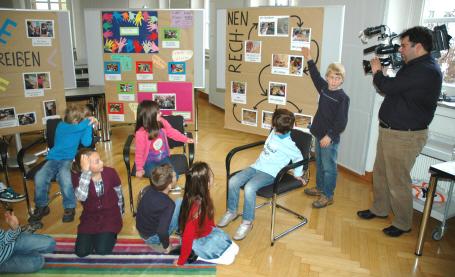Grundschüler von Sankt Peter und Paul in Landshut erklärten ihren Unterricht