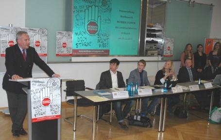 Kultusminister Spaenle mit den Vertretern des Landesschülerrats