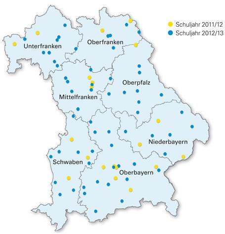 Individuelle Lernzeit: Standorte der Flexiblen Grundschule ab dem Schuljahr 2012/2013