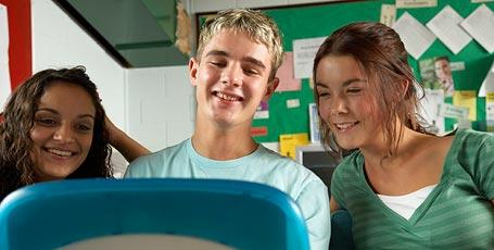 Schüler am Laptop