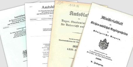 Abbildung von 4 Amtblättern