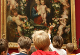 Schüler vor einem Gemälde // Bild: MPZ