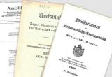 Collage historischer Amtsblätter