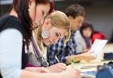 Schüler in der Abiturprüfung