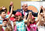 Minister Dr. Ludwig Spaenle eröffnete mit zahlreichen Schülern den Aktionstag Musik