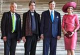 Kunstminister Dr. Ludwig Spaenle begrüßte König Willem-Alexander und Königin Máxima gemeinsam mit Dr. Bernhard Maaz