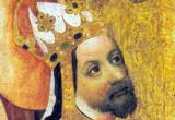 Darstellung von Karl IV. auf einer Votivtafel um 1370