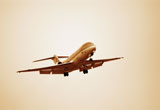 Flugzeug beim Landen