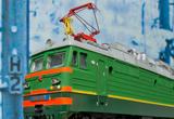 Modell-Lok der Transsibirischen Eisenbahn