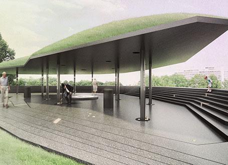 Der Siegerentwurf des Architektenbüros Brückner & Brückner