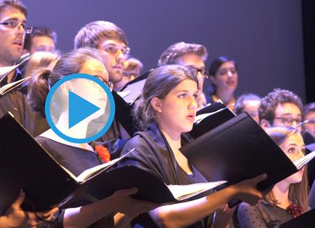 Der Chor des Bayerischen Rundfunks bei der Festveranstaltung