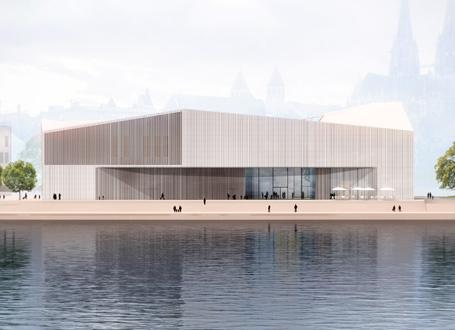 Museum aus der Donauansicht