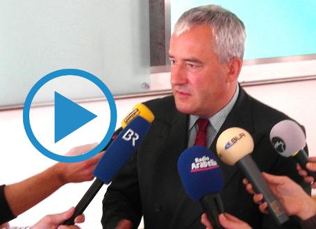 Kultusminister Dr. Ludwig Spaenle im Gespräch mit Medienvertretern