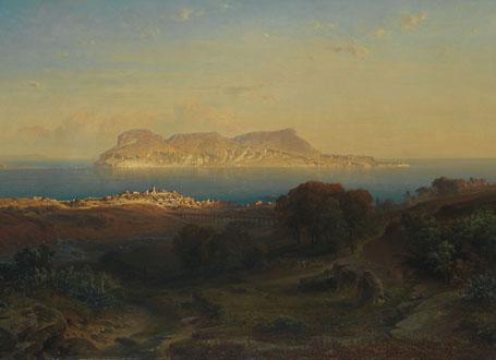 Fritz Bamberger: Ansicht von Gibraltar